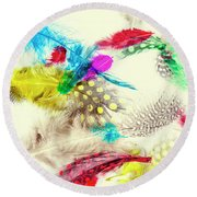 Abstract Softness Round Beach Towel