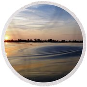 Abstract Sunset Round Beach Towel