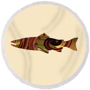 Abstract Trout Round Beach Towel