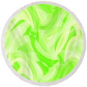 Abstract Waves Painting 0010076 Round Beach Towel