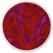Abstract Waves Painting 0010080 Round Beach Towel