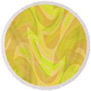 Abstract Waves Painting 0010091 Round Beach Towel