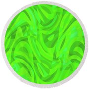Abstract Waves Painting 0010106 Round Beach Towel