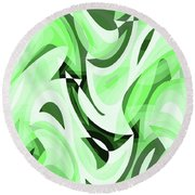 Abstract Waves Painting 0010108 Round Beach Towel