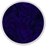 Abstract Waves Painting 007207 Round Beach Towel