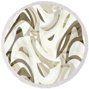 Abstract Waves Painting 007212 Round Beach Towel
