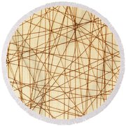 Abstract Web Background Round Beach Towel