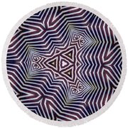 Abstract Zebra Design Round Beach Towel