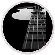 Acoustic Guitar Musician Player Metal Rock Music Lead Round Beach Towel