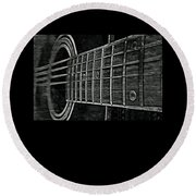 Acoustic Guitar Musician Player Metal Rock Music Strings Round Beach Towel