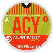 Acy Atlantic City Luggage Tag I Round Beach Towel