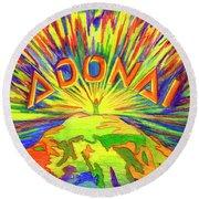 Adonai Round Beach Towel
