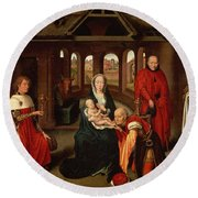 Adoration Of The Kings Round Beach Towel