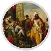 Adoration Of The Magi 1624 Round Beach Towel