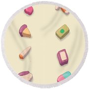 Adult Lucky Charms Round Beach Towel