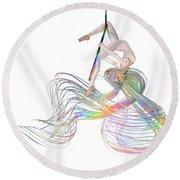 Aerial Hoop Dancing Ribbons For Her Hair Png Round Beach Towel