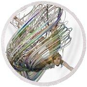 Aerial Hoop Dancing Whirlwind Of Hair Png Round Beach Towel