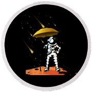 Aeronautic Astronaut Meteor Shower Meteorites Galaxy Space Nerd Round Beach Towel