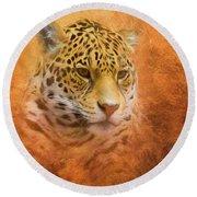 African Leopard Round Beach Towel