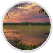After A June Thunderstorm II Round Beach Towel