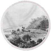 After The Tornado  Pavel Petrovich Svinin 1787 88-1839 Round Beach Towel