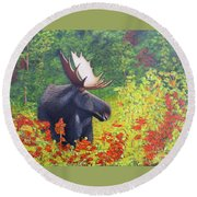 Afternoon Munch Round Beach Towel by Tracey Goodwin