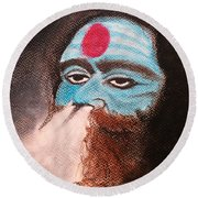 Aghori  Round Beach Towel