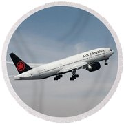 Air Canada Boeing 777 233 Lr Round Beach Towel
