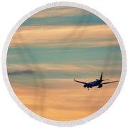 Airplane Round Beach Towel