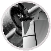 Airplane Propeller Round Beach Towel
