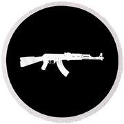 Ak-47  Round Beach Towel