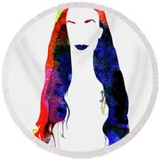 Alanis Watercolor II Round Beach Towel