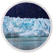 Alaskan Glacier Round Beach Towel