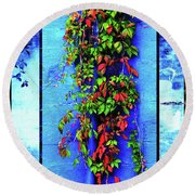 Alley-wall Paradise Round Beach Towel