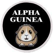 Alpha Guinea Pig Round Beach Towel