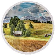 Alpine Beauty Round Beach Towel