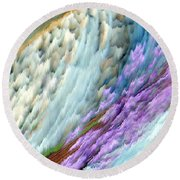 Altered Frequencies Round Beach Towel