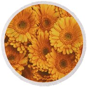 Amber Soaked Round Beach Towel