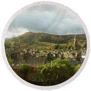 Ambleside Rooftops In The Lake District National Park Round Beach Towel