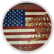 American Coyote Ugly Round Beach Towel