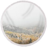 American Fork Canyon Round Beach Towel by Dustin LeFevre