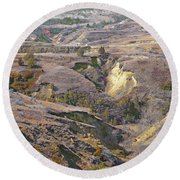 Amidon April Prairie Reverie Round Beach Towel