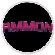 Ammon Round Beach Towel