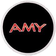 Amy Round Beach Towel