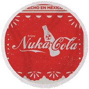 An Ice Cold Nuka Cola - Fallout Universe Round Beach Towel