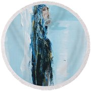 Angel With Child Round Beach Towel