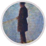Angler 1884 Round Beach Towel
