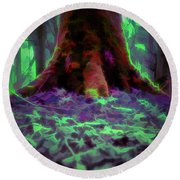 Another World - Overgrown Round Beach Towel by Scott Lyons