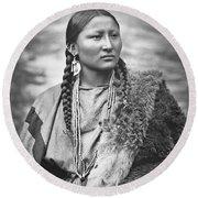 Arapahoe Woman Round Beach Towel