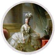 Archduchess Marie Antoinette  Round Beach Towel